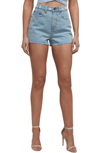 RIGID HIGH DENIM SHORTS in colour CITADEL