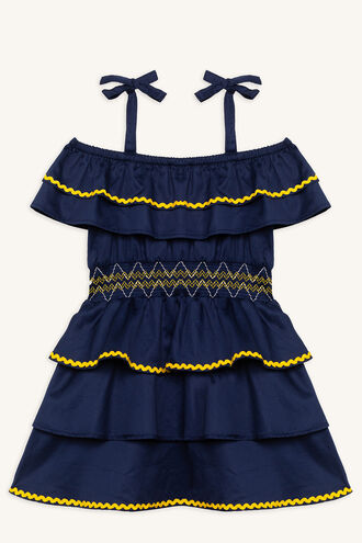 KIERA DRESS in colour PATRIOT BLUE