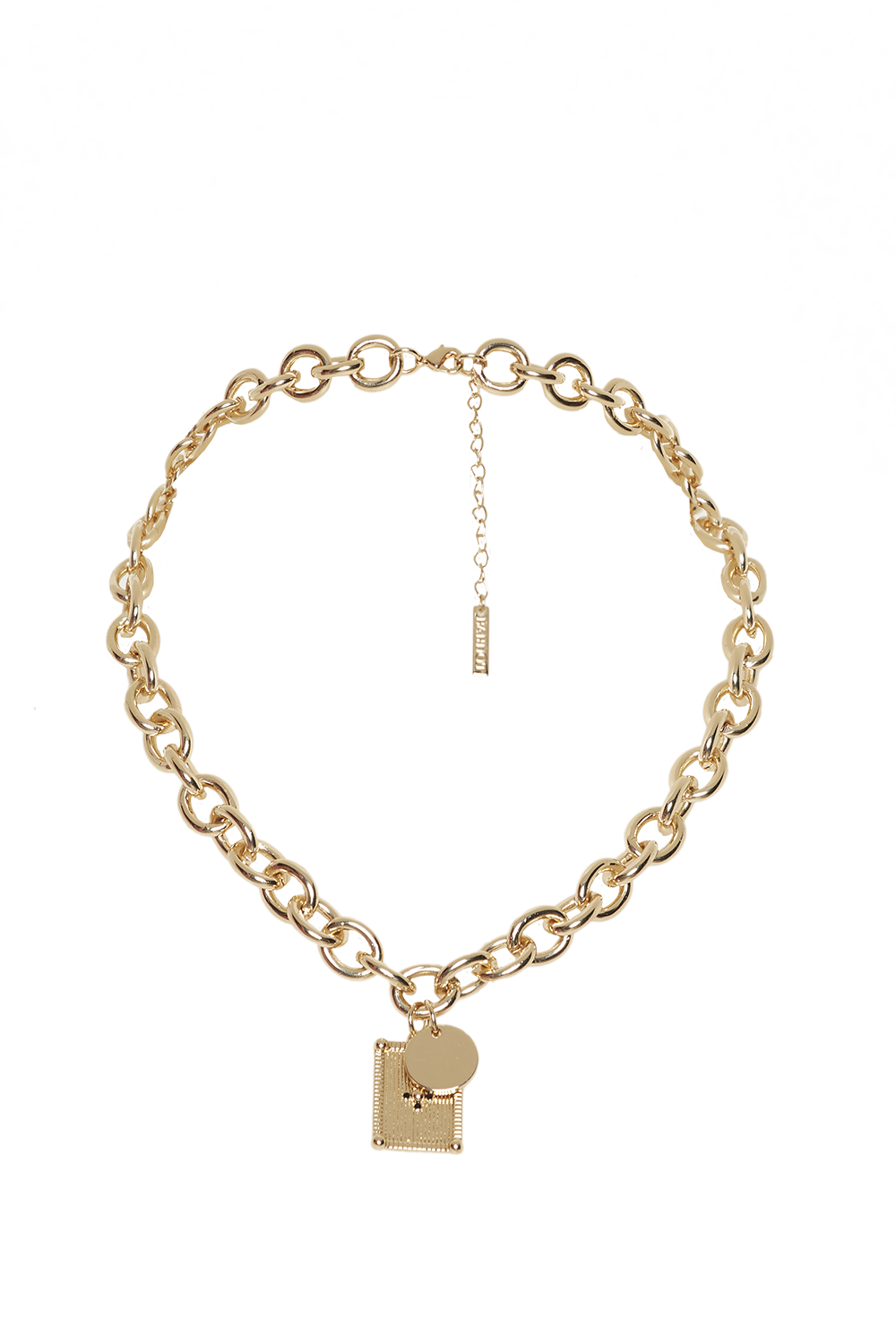 LINK DROP NECKLACE in colour GOLD EARTH