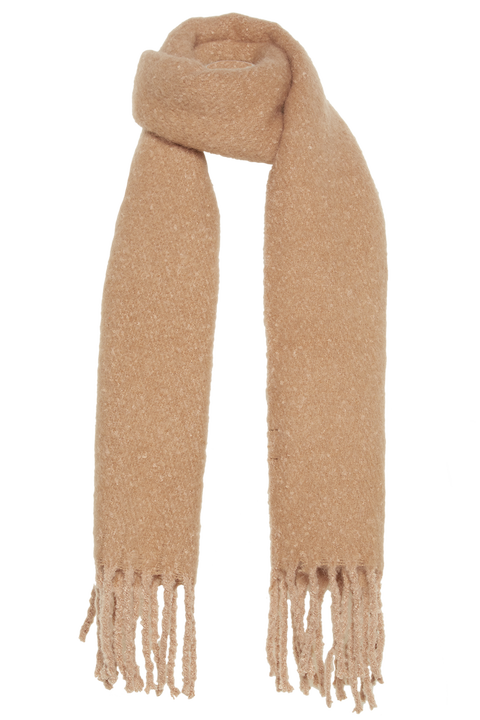 WARM KNIT SCARF in colour SAND
