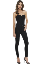 GISELE HIGH RISE JEAN in colour JET BLACK