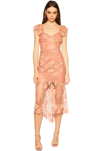 LUCY LACE DRESS in colour ROSE DAWN