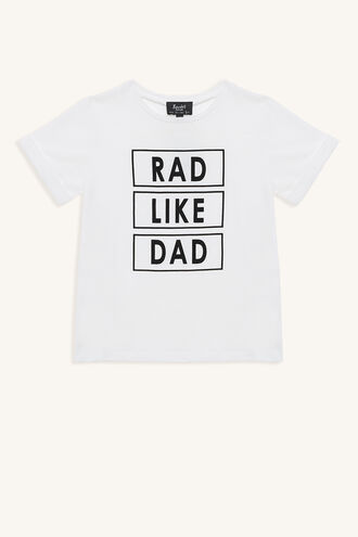RAD DAD TEE in colour BRIGHT WHITE