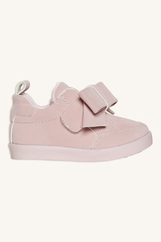 TONAL TODDLER BOW SNEAKER in colour VEILED ROSE