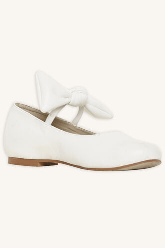 BOW BALLET FLAT in colour CLOUD DANCER