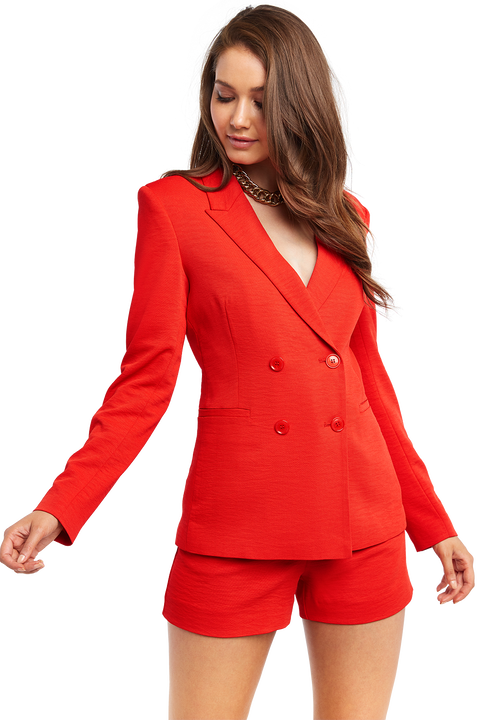 MALIBU BLAZER in colour CHERRY TOMATO