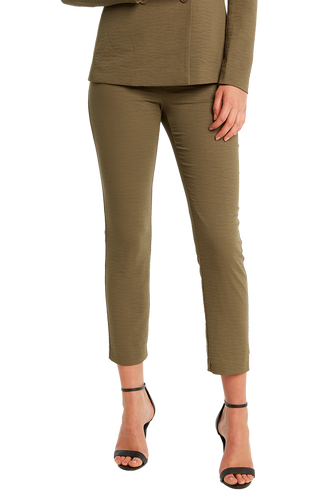 ZALIA SLIM PANT in colour BURNT OLIVE