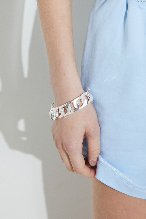 SILVER CHUNKY BRACELET in colour SILVER