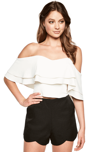 BAND TOP in colour CLOUD DANCER