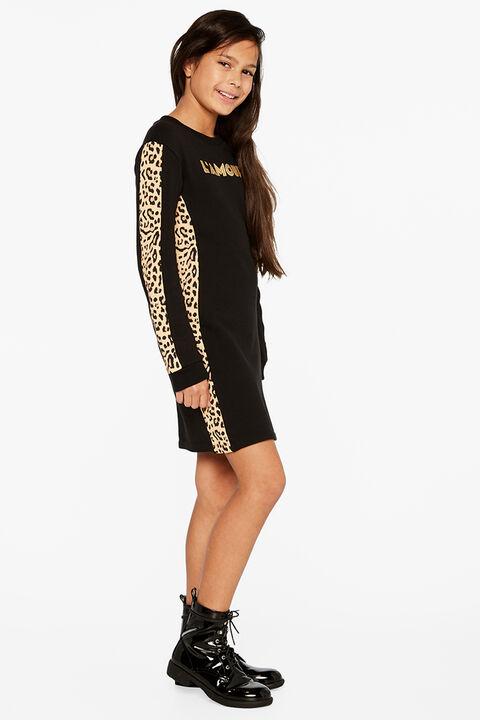 LAMOUR SWEATER DRESS in colour JET BLACK