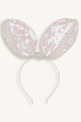 BUNNY GLITTER EARS in colour PINK CARNATION