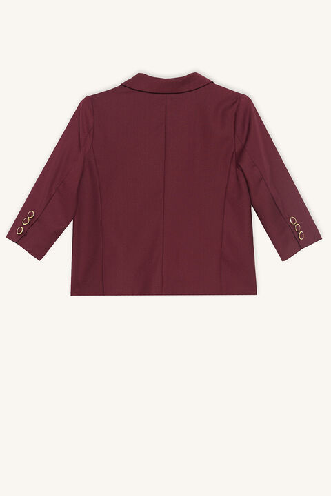 BABY BOY DOUBLE BREASTED SUIT JACKET in colour BURGUNDY