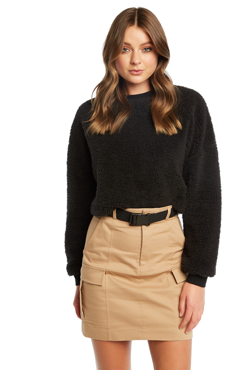 TEDDY JUMPER in colour CAVIAR