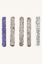 SNAP BAND REVERSABLE SEQUINS in colour BRIGHT WHITE