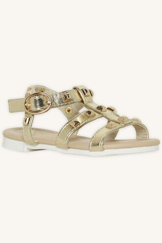 TODDLER MILLY STUDDED SANDAL in colour GOLD EARTH