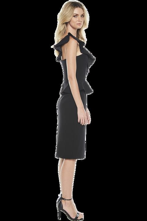 CAMELIA DRESS in colour CAVIAR