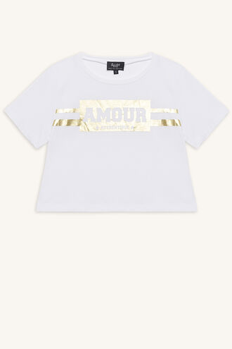 AMOUR TEE in colour CLOUD DANCER