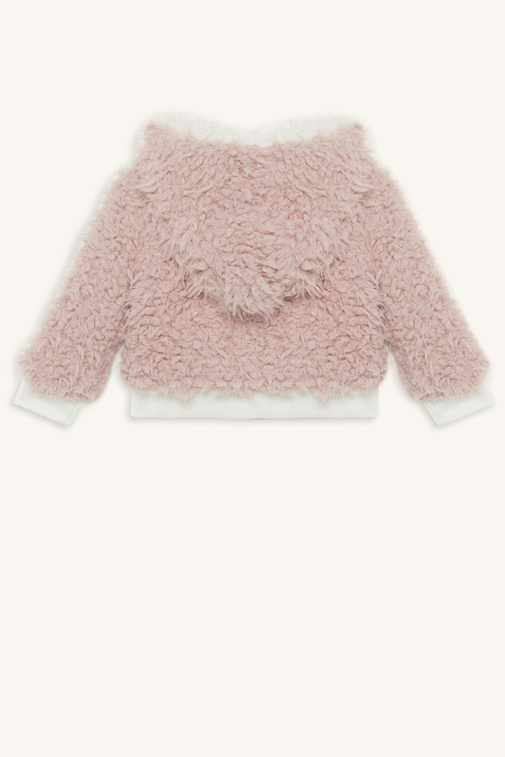 SHERPA HOODY JACKET in colour SNOW WHITE