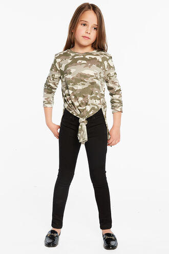 CAMO L/S TYLA TEE in colour BURNT OLIVE