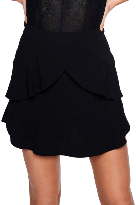 FLUTTER SKIRT in colour CAVIAR