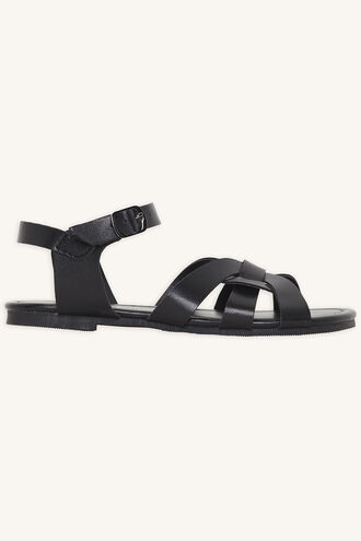 AUDREY TWIST FRONT SANDAL in colour METEORITE