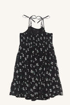 FLO TEIRED DRESS in colour CAVIAR