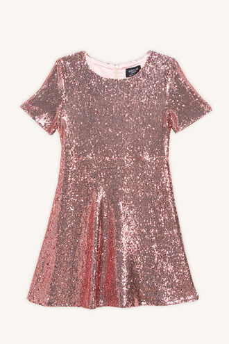 PETA SEQUIN DRESS in colour LILAC HINT