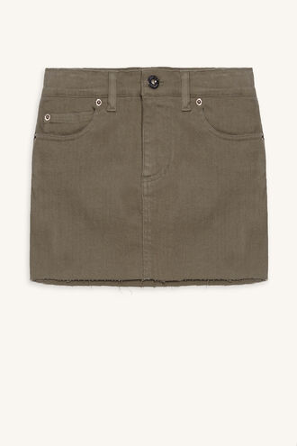 TUSK MINI SKIRT in colour DEEP LICHEN GREEN