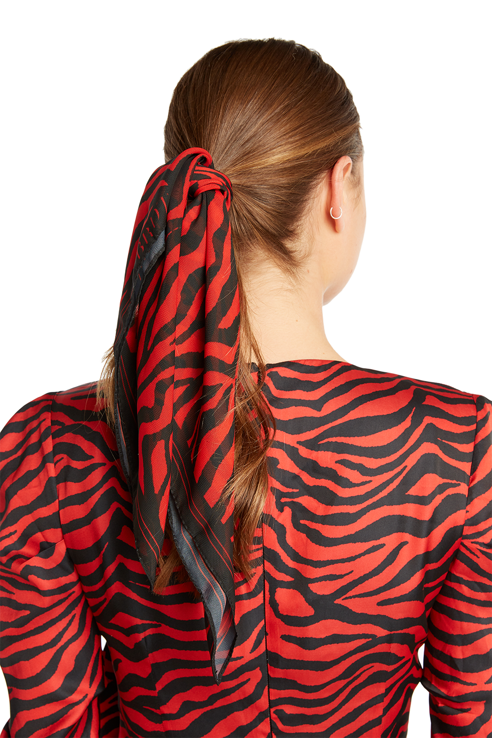 BARDOT LOGO HAIR SCARF in colour RED BUD