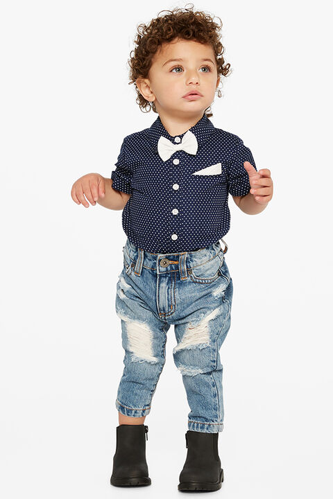 SPOT SHIRT GROW in colour BLUE INDIGO