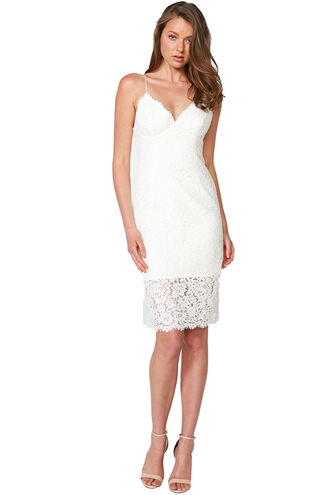 SIENNA LACE DRESS in colour CLOUD DANCER