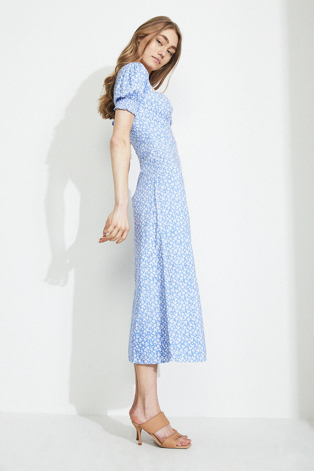 MIDI FLORAL DAY DRESS in colour ANDORRA