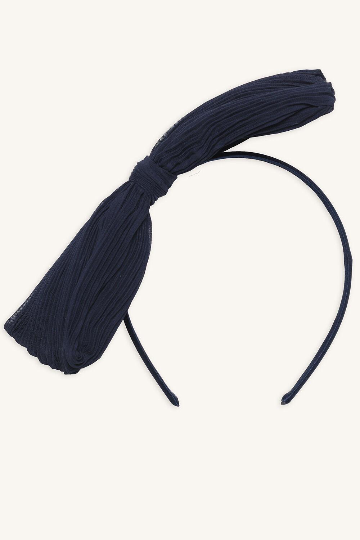 LARGE BOW HEADBAND in colour BLACK IRIS
