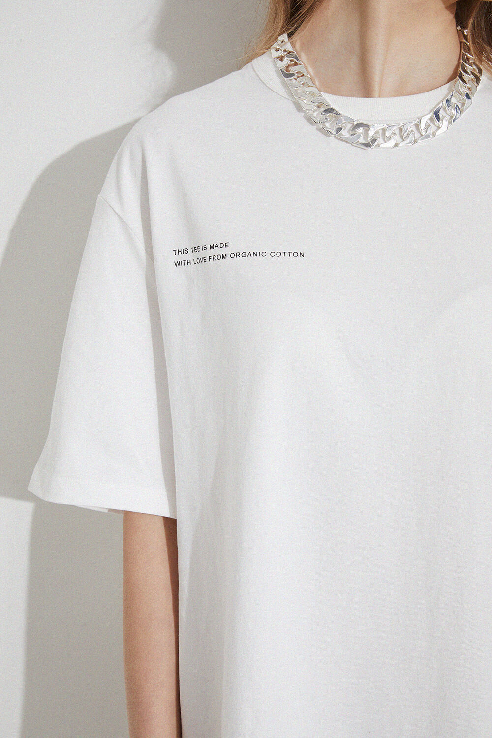 THE OVERSIZED TEE in colour BRIGHT WHITE