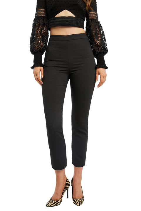 ZALIA SLIM PANT in colour CAVIAR