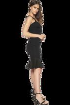 GABRIELLE DRESS in colour CAVIAR