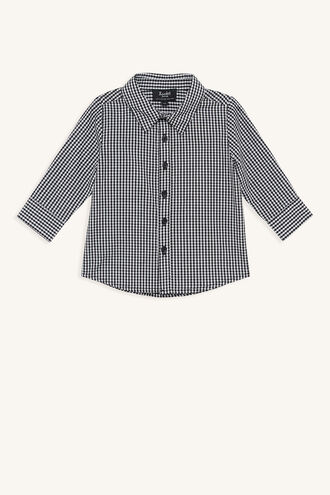 GINGHAM SHIRT in colour CLOUD DANCER