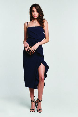 RONA MIDI DRESS in colour MARITIME BLUE