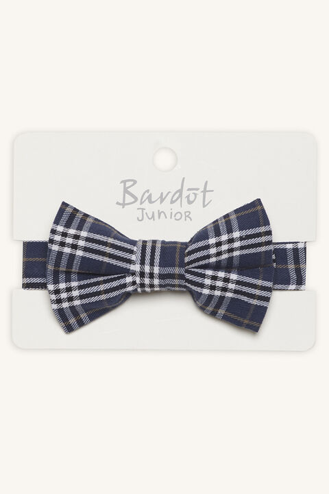 CHECK BOW TIE in colour BLACK IRIS