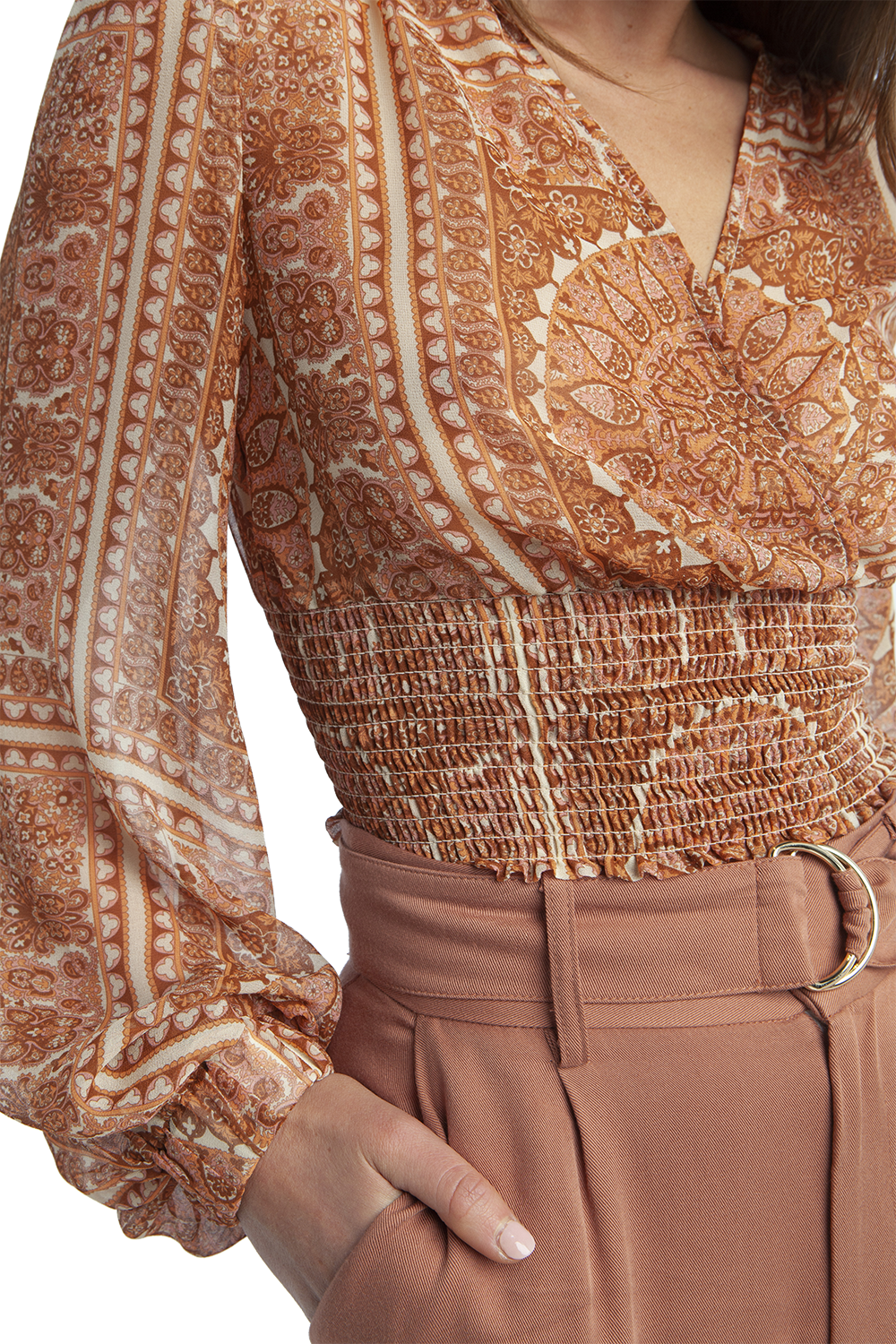 CHARO TOP in colour MUTED CLAY