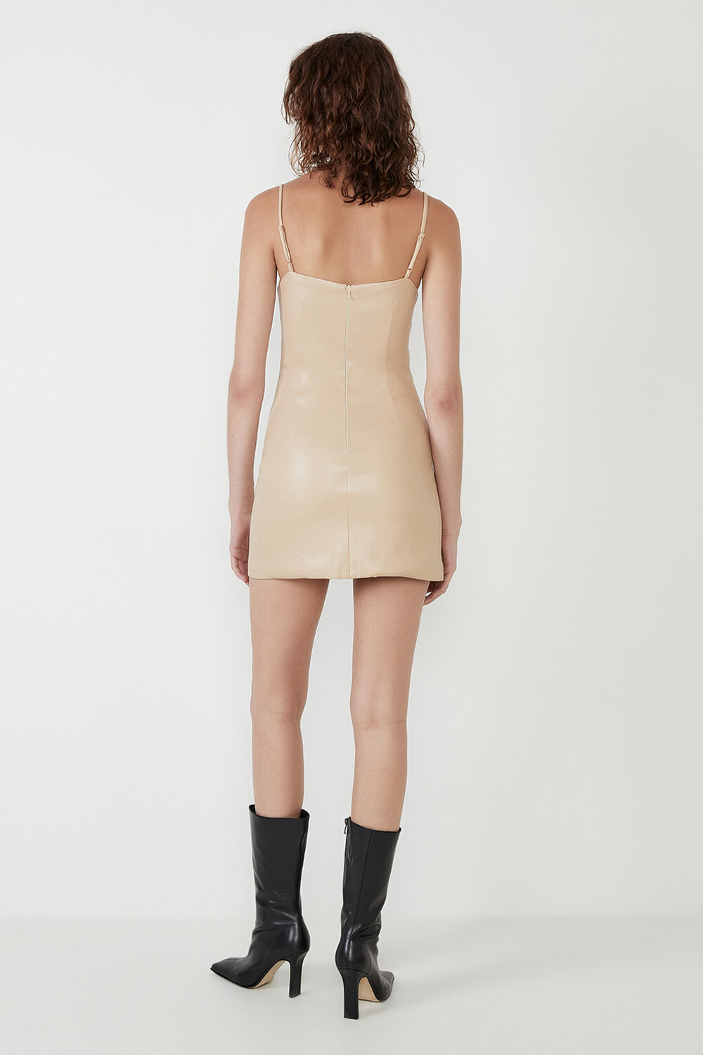 ANABELLE VEGAN LEATHER DRESS in colour MOONLIGHT