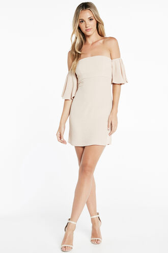 NEVE SLIP DRESS in colour RUGBY TAN