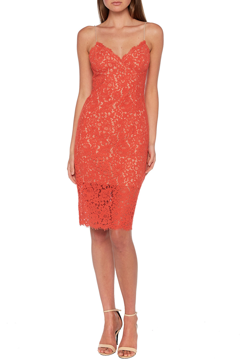 SIENNA LACE DRESS in colour PATRIOT BLUE