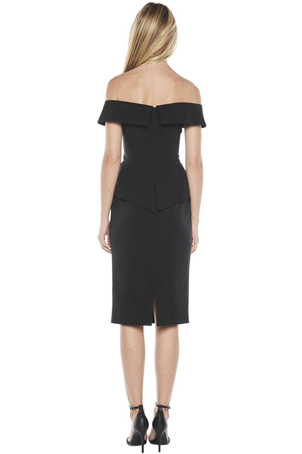 TEMIKA MIDI DRESS in colour CAVIAR