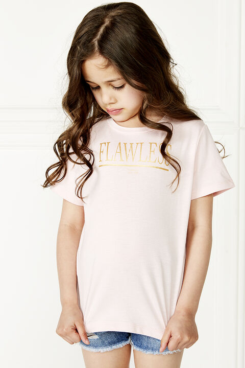 FLAWLESS TEE in colour PRIMROSE PINK
