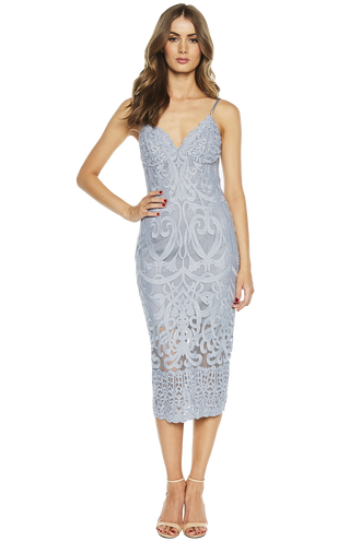 GIA LACE DRESS in colour ASHLEY BLUE