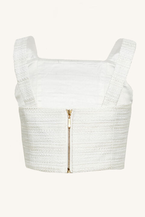 OLIVIA BOUCLE TOP in colour BRIGHT WHITE