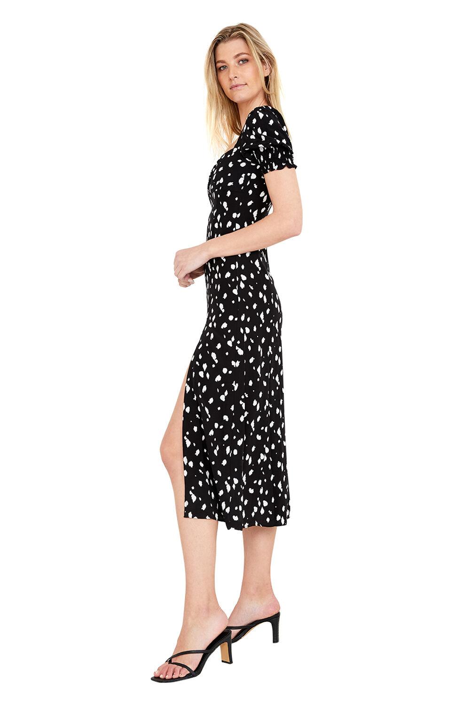 Millie Spot Midi Dress in colour TAP SHOE
