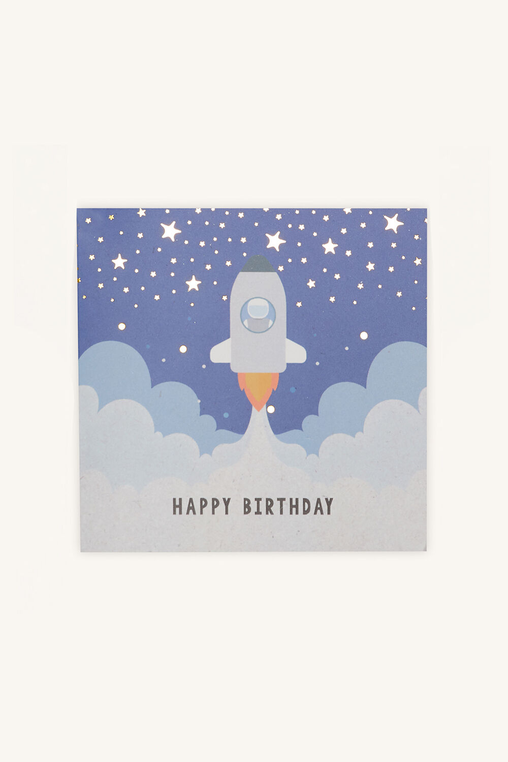 ROCKET HAPPY BIRTHDAY GIFT CARD in colour BLACK IRIS