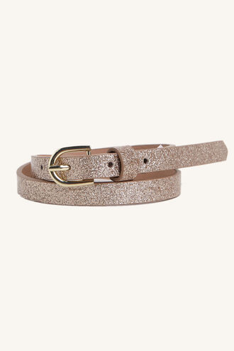 GOLD GLITTER BELT in colour GOLD EARTH
